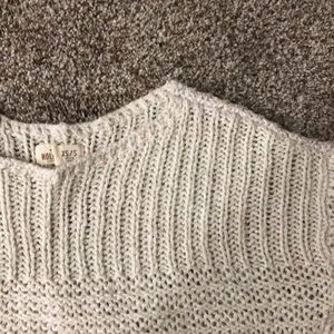Hollister cream knit sweater